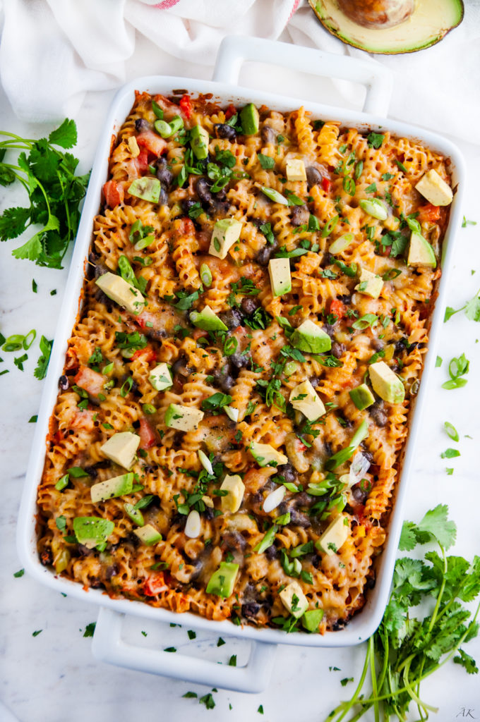 Vegetarian Southwest Pasta Bake | aberdeenskitchen.com