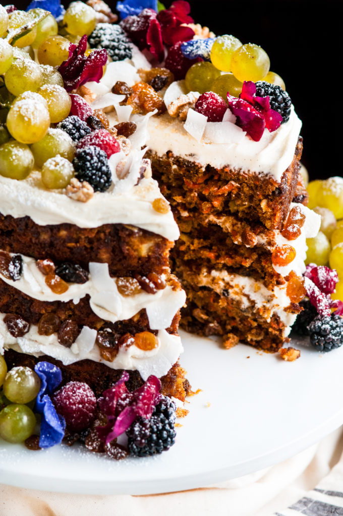 Three Layer Carrot Cake with Vanilla Cream Cheese Frosting | aberdeenskitchen.com