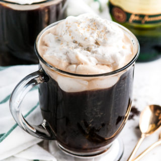 Irish Coffee with Baileys Whipped Cream | aberdeenskitchen.com