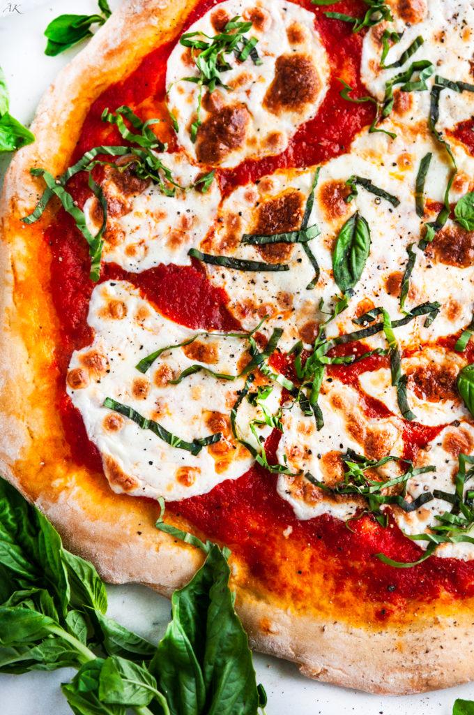 Margherita Pizza with Homemade Crust | aberdeenskitchen.com