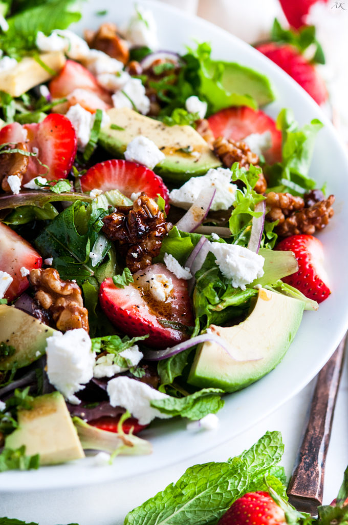 Strawberry Mint Avocado Salad | aberdeenskitchen.com