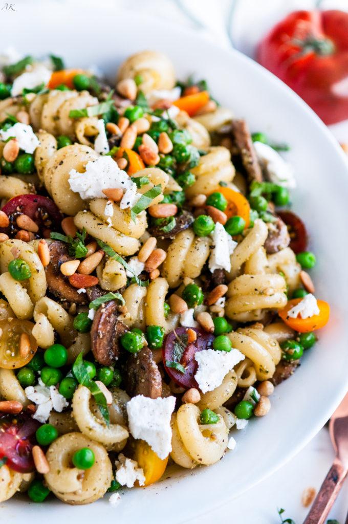 Simple Spring Pea Pesto Pasta | aberdeenskitchen.com