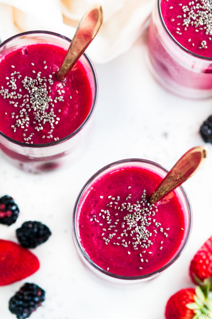 Healthy Fruity Beet Smoothie | aberdeenskitchen.com