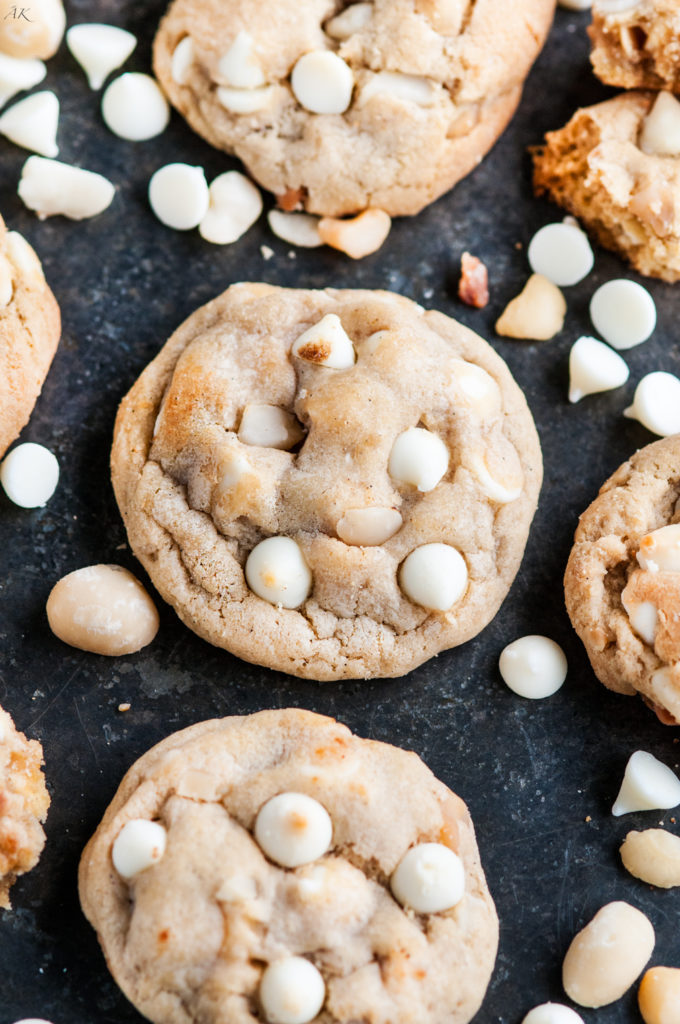 White Chocolate Chip Macadamia Nut Cookies | aberdeenskitchen.com
