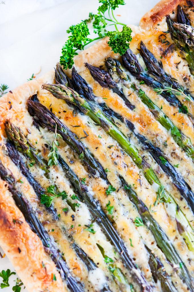 Spring Asparagus Brie Tart   aberdeenskitchen.com