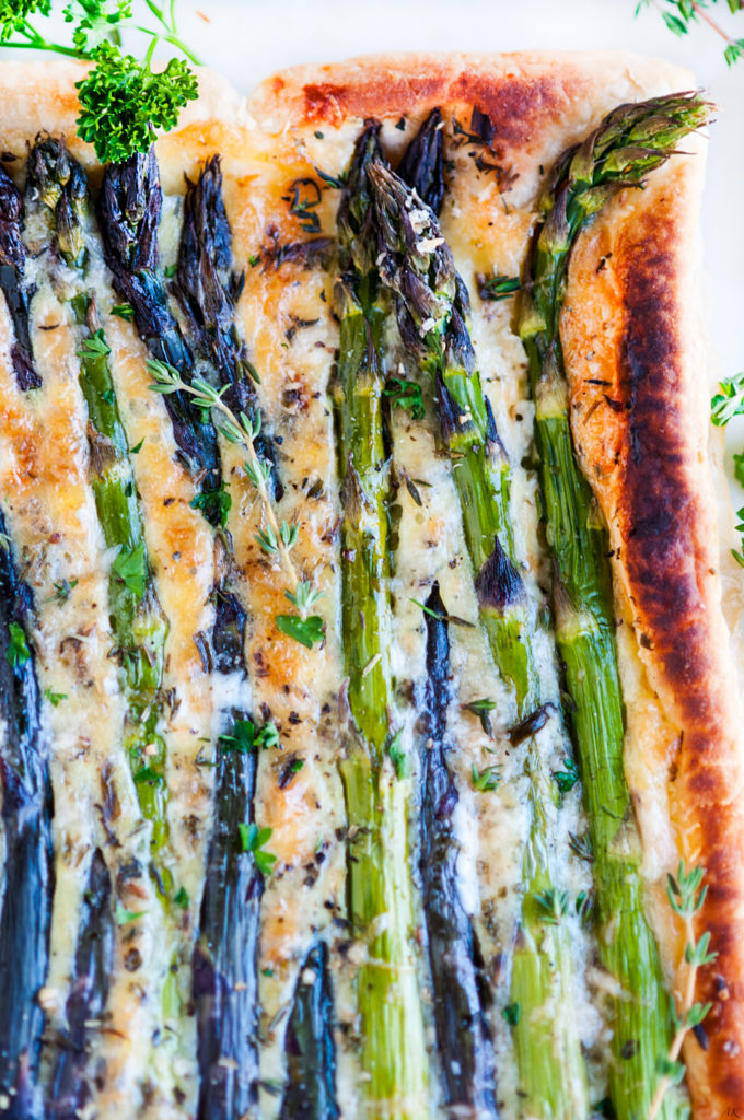 Spring Asparagus Brie Tart | aberdeenskitchen.com