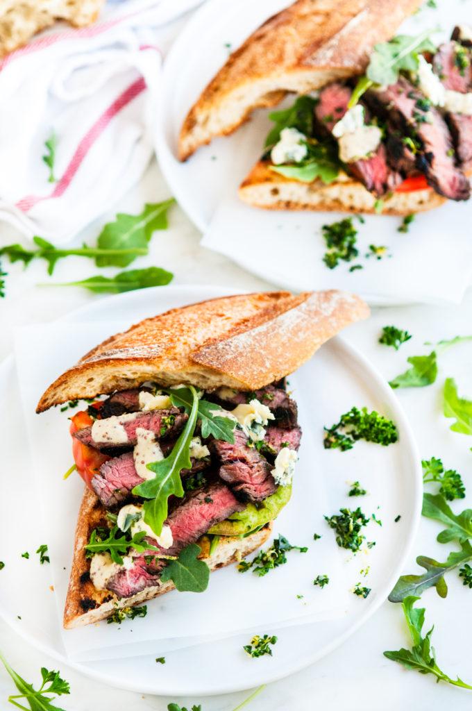 Grilled Balsamic Steak Sandwiches | aberdeenskitchen.com