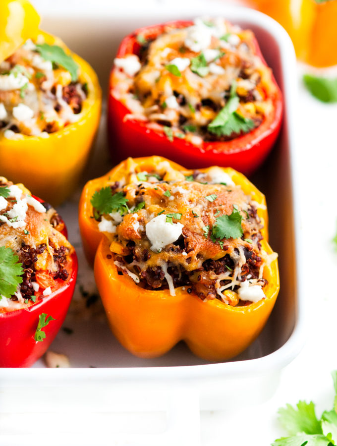 Southwest Quinoa Stuffed Bell Peppers