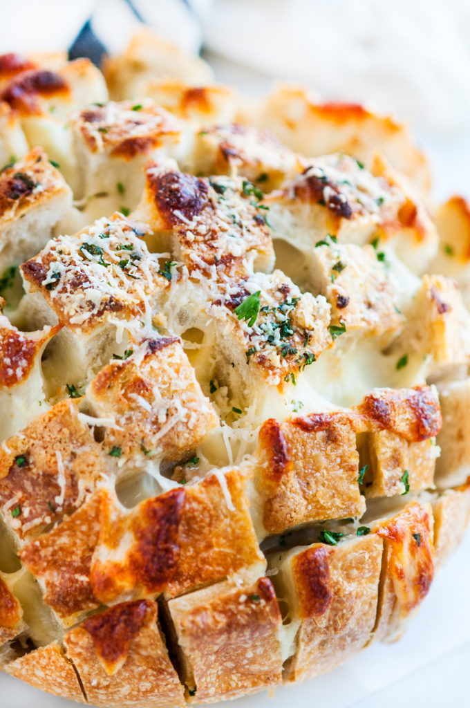 Cheesy Garlic Herb Pull Apart Bread | aberdeenskitchen.com
