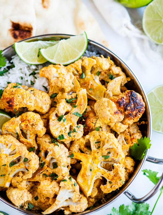 20 Minute Curried Tandoori Cauliflower