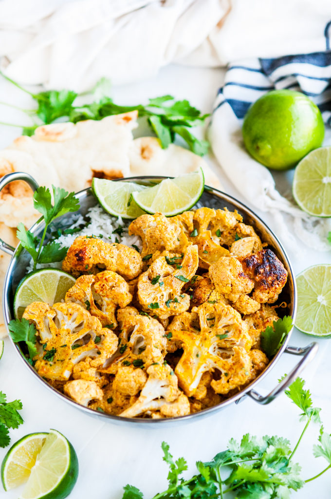 20 Minute Curried Tandoori Cauliflower | aberdeenskitchen.com