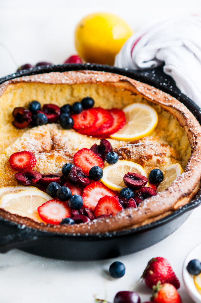 Easy Peezy Summer Berry Dutch Baby | aberdeenskitchen.com