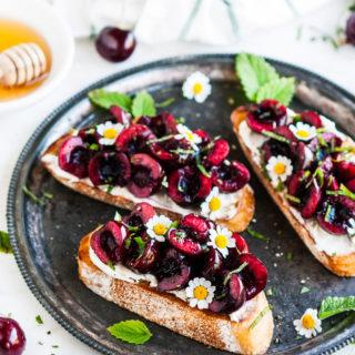 Cherry Mascarpone Breakfast Toast | aberdeenskitchen.com