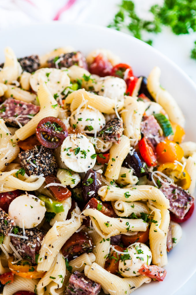 Italian Pasta Salad with Red Wine Dressing | aberdeenskitchen.com