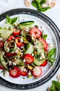 Strawberry Cucumber Pistachio Salad   aberdeenskitchen.com