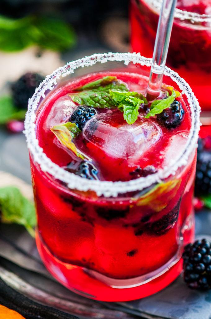 Mint Blackberry Bourbon Ginger Smash | aberdeenskitchen.com