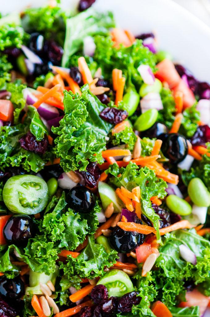 Superfood Kale Salad with Apple Cinder Vinaigrette | aberdeenskitchen.com