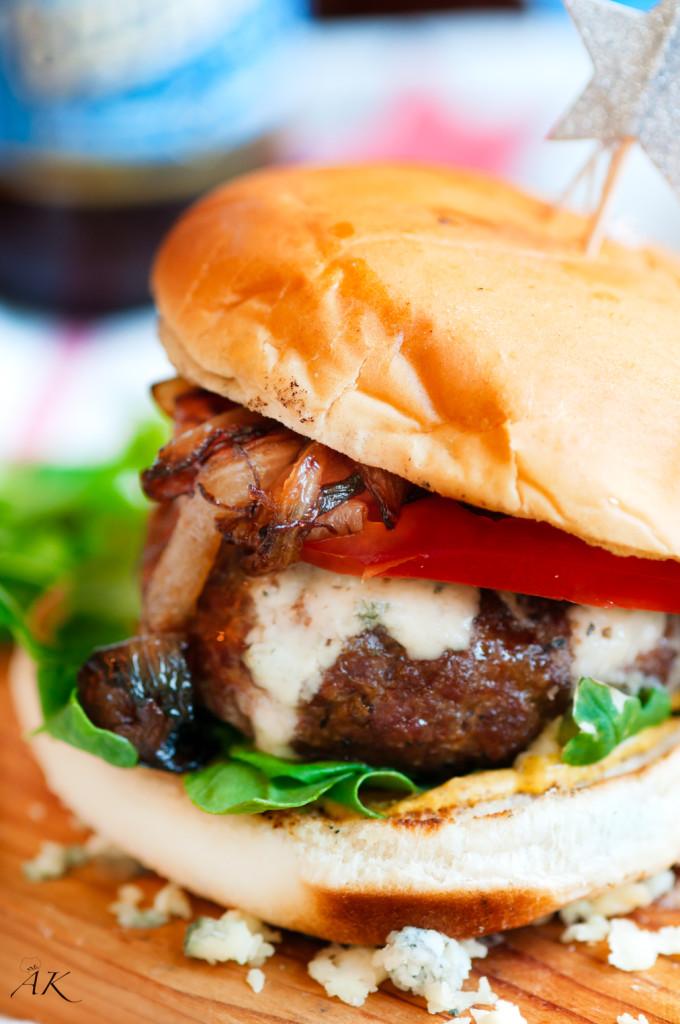 Caramelized Onion Blue Cheese Burgers Aberdeen S Kitchen