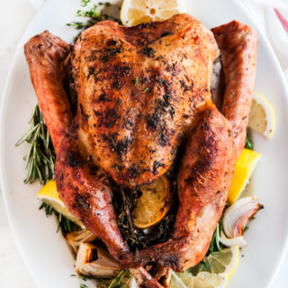 Lemon Herb Dry-brined Roasted Turkey | aberdeenskitchen.com