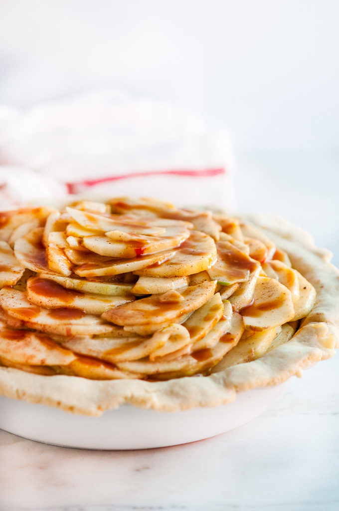 Salted Caramel Apple Pie | aberdeenskitchen.com