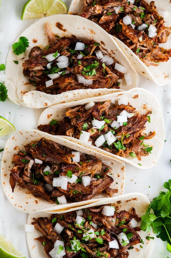 Slow Cooker Pork Carnitas Tacos | aberdeenskitchen.com