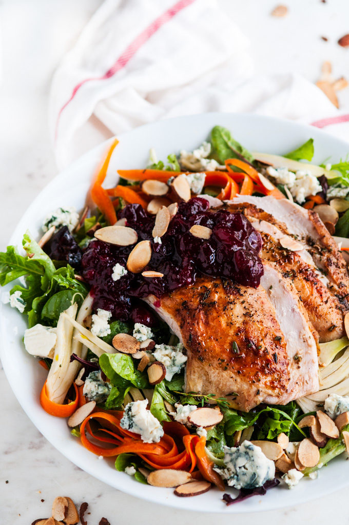 Thanksgiving Leftovers- Turkey Cranberry Salad | aberdeenskitchen.com