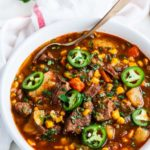 Instant Pot Spicy Beef Stew | aberdeenskitchen.com