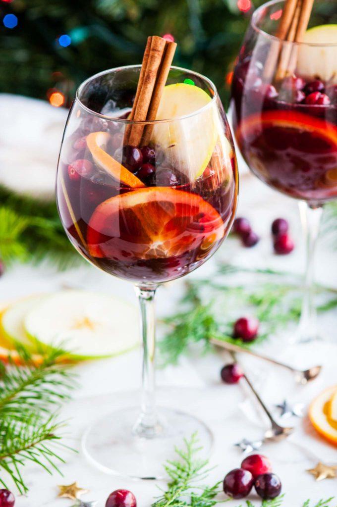 Red Wine Christmas Sangria | aberdeenskitchen.com