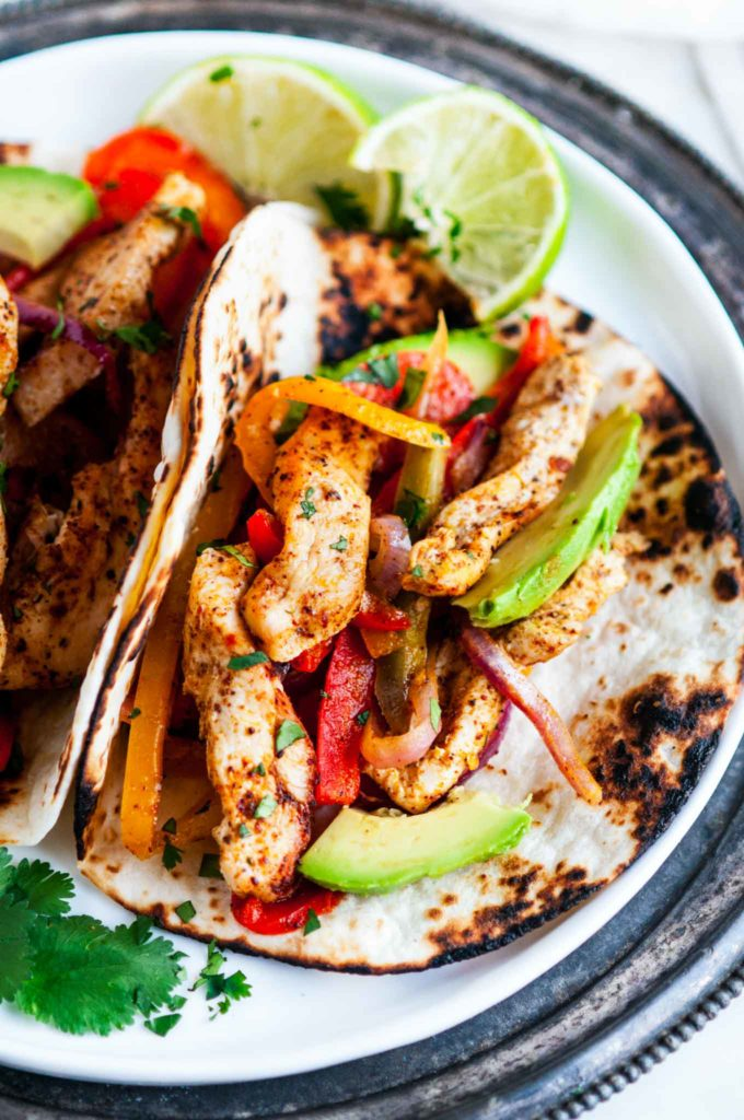 Sheet Pan Chicken Fajitas | aberdeenskitchen.com
