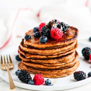 Whole Wheat Buttermilk Pancakes | aberdeenskitchen.com