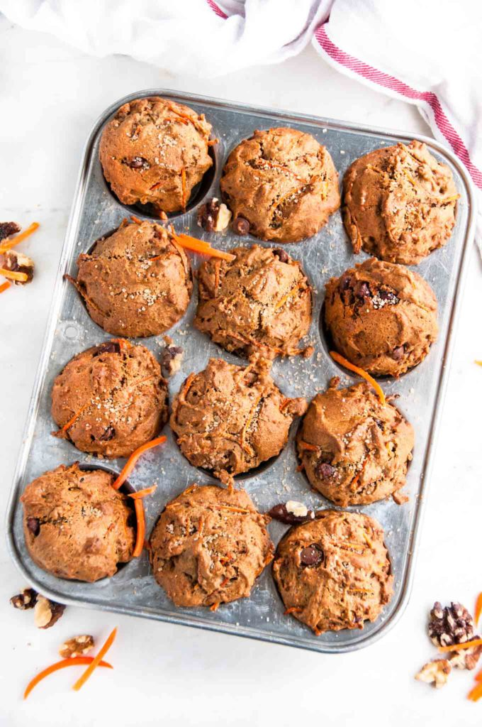 Healthy Carrot Walnut Muffins   aberdeenskitchen.com