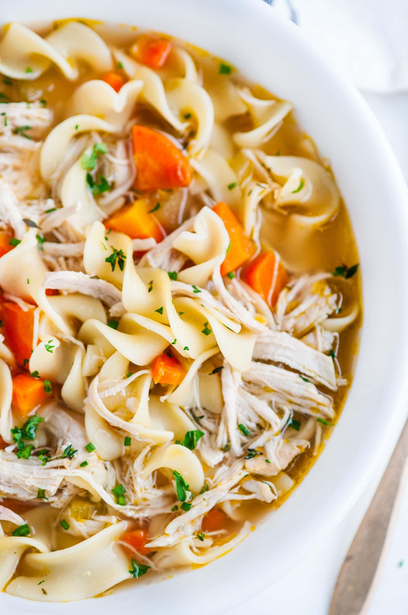 Instant Pot Chicken Noodle Soup - Aberdeen's Kitchen
