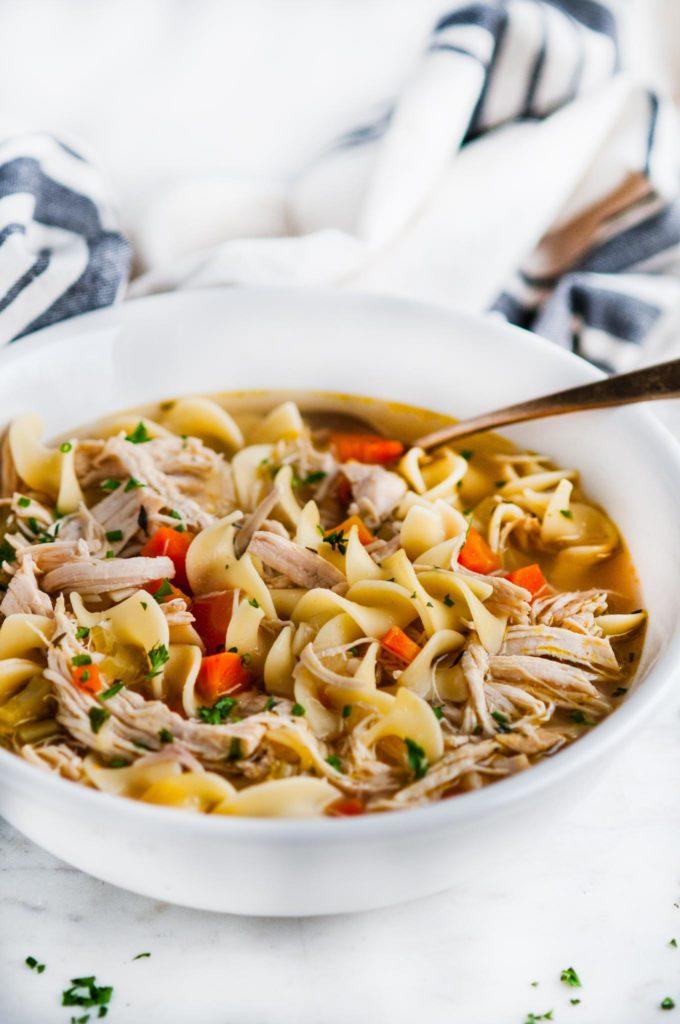 Instant Pot Chicken Noodle Soup | aberdeenskitchen.com