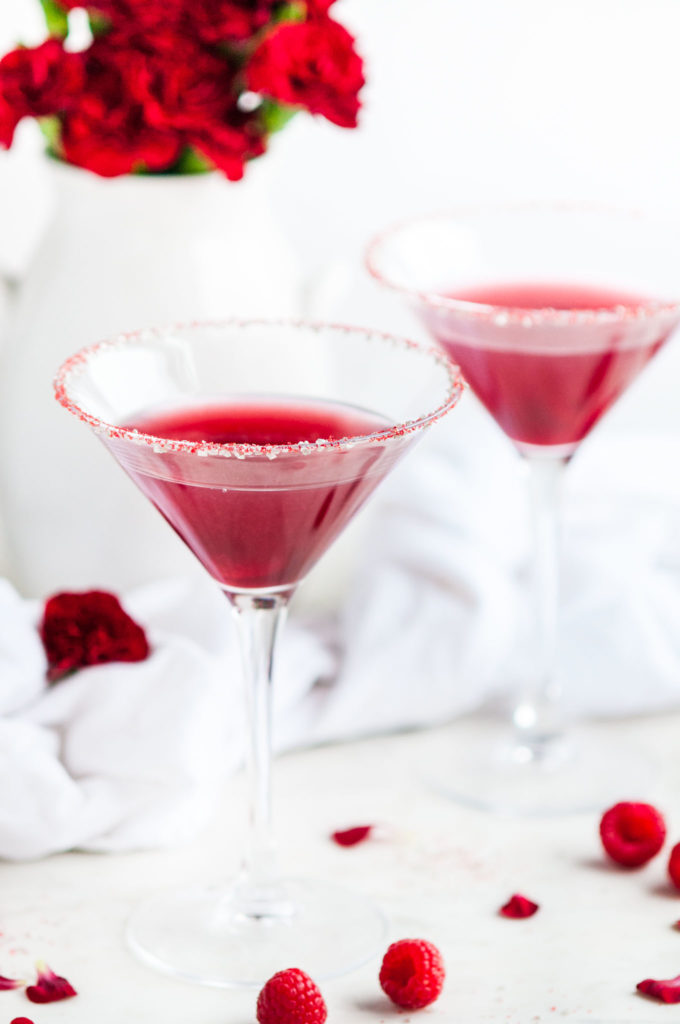 Raspberry Lemon Drop Cocktail | aberdeenskitchen.com