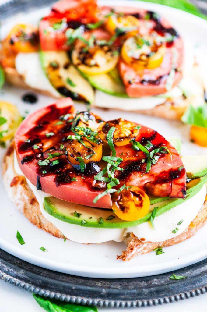 Caprese Avocado Breakfast Toast | aberdeenskitchen.com