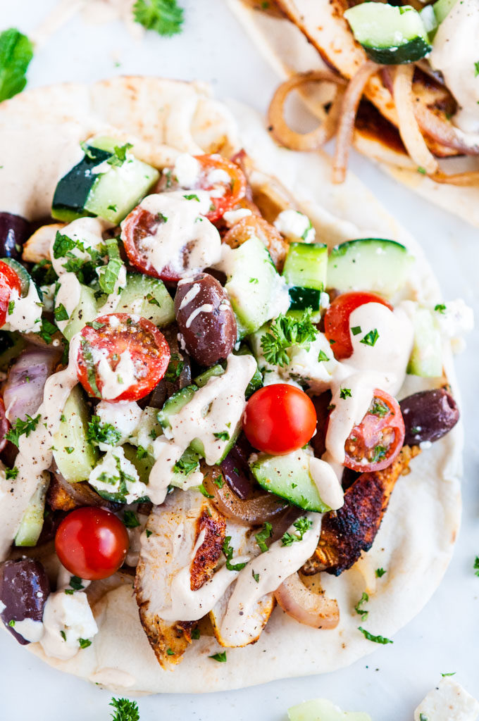 Chicken Shawarma Wraps with Tahini Sauce | aberdeenskitchen.com