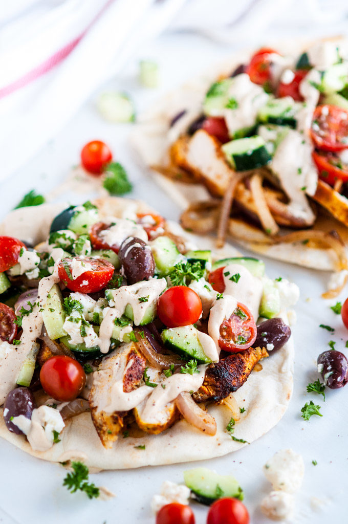 Chicken Shawarma Wraps with Tahini Sauce   aberdeenskitchen.com