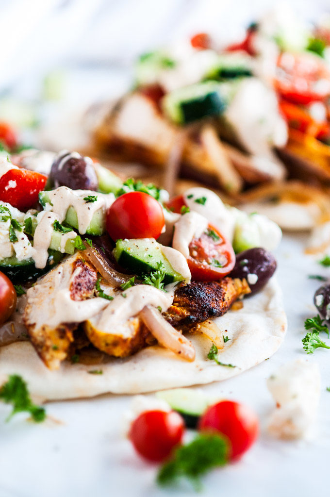 Chicken Shawarma Wraps with Tahini Sauce | aberdeenskitchen.com