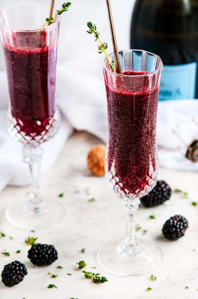 Summer Cocktail Blackberry Bellini Aberdeen S Kitchen