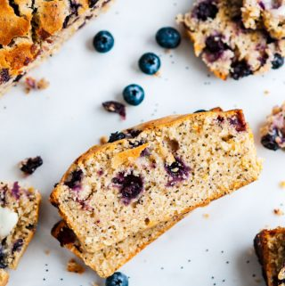Lemon Blueberry Poppy Seed Bread slices