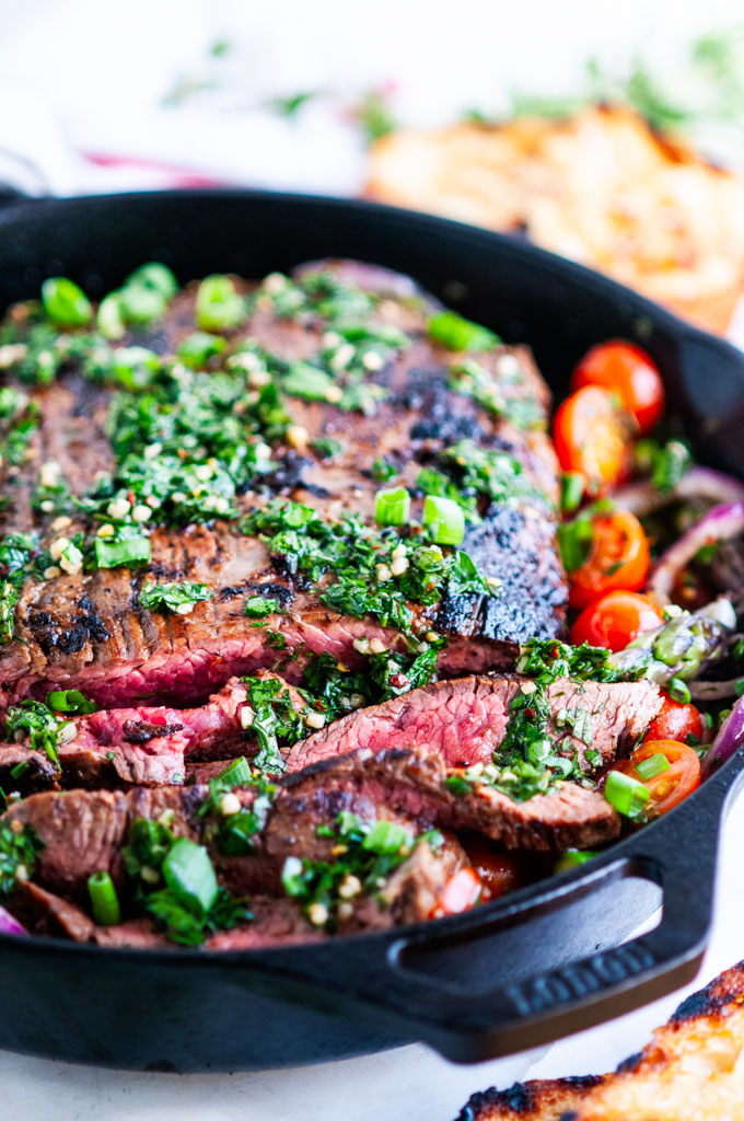 how to cook flank steak in cast iron skillet