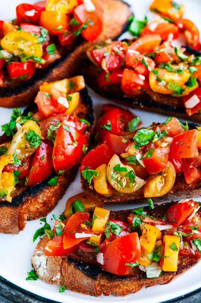 Tomato Basil Bruschetta (Julie and Julia Style