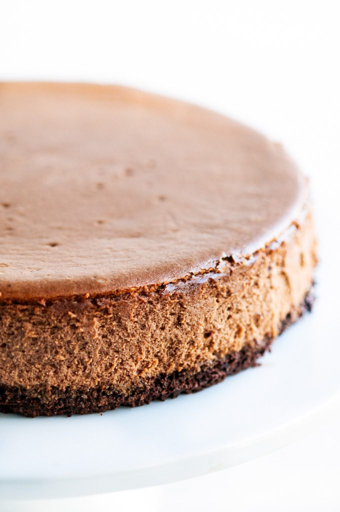 Triple Chocolate Cheesecake plain without topping