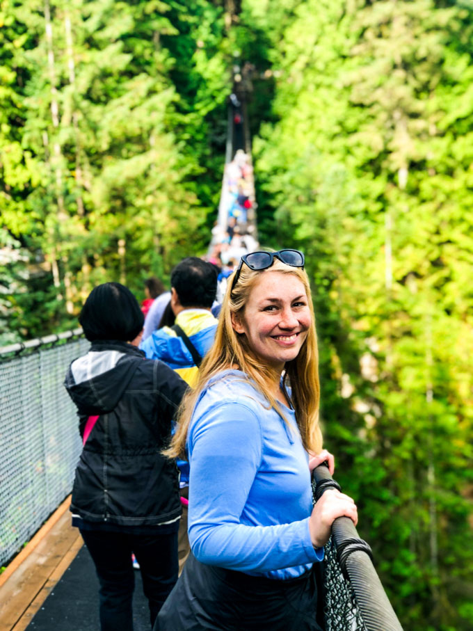 September Movie Date Capilano suspension bridge