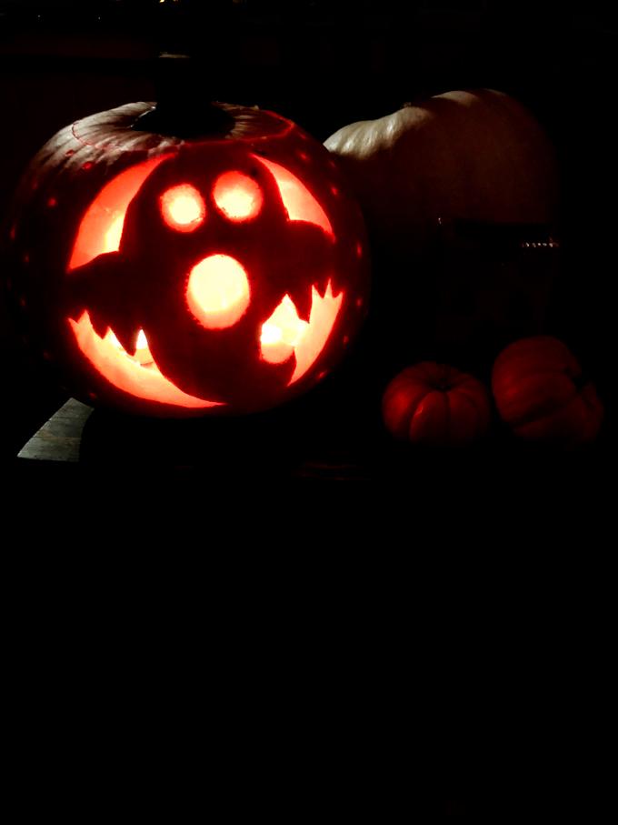 October Movie Date Ghost Pumpkin Carving