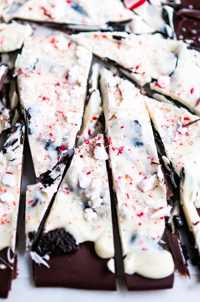 Holiday Double Chocolate Peppermint Bark