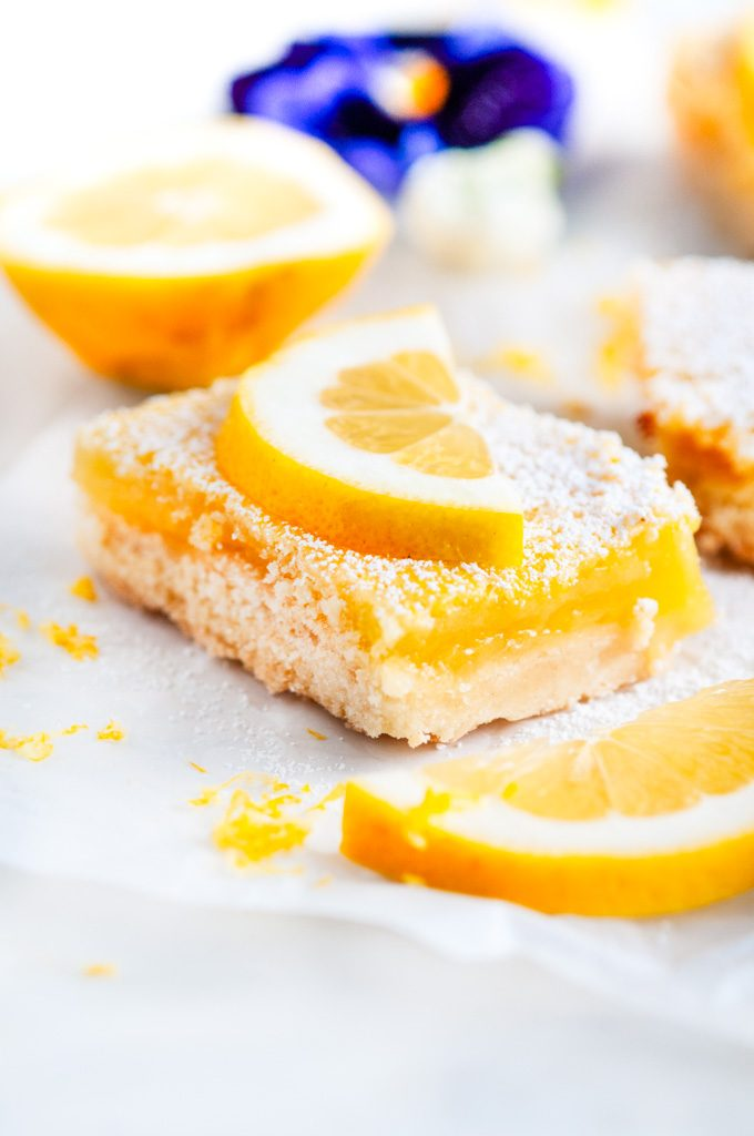 Best Ever Classic Lemon Bars close up