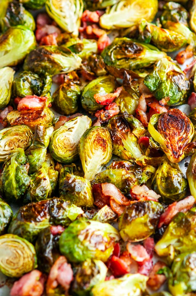 Sheet Pan Bacon Garlic Brussels Sprouts Aberdeen S Kitchen