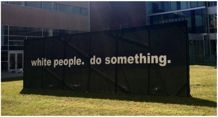 White People. Do Something. Billboard. 75 Things White People Can do for Racial Justice
