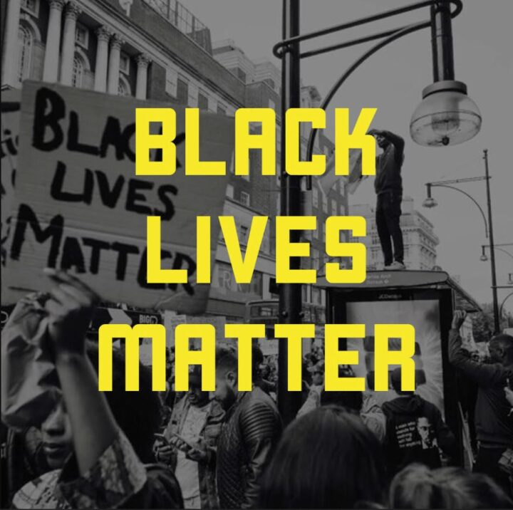 Black Lives Matter Graphic with Yellow Font